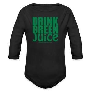 Drink Green Juice Recycled Shoulder Bag - Organic Longsleeve Baby Bodysuit