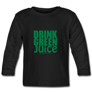 Drink Green Juice Recycled Shoulder Bag - Baby Long Sleeve T-Shirt