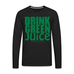 Drink Green Juice Recycled Shoulder Bag - Men's Premium Longsleeve Shirt
