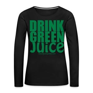 Drink Green Juice Recycled Shoulder Bag - Women's Premium Longsleeve Shirt