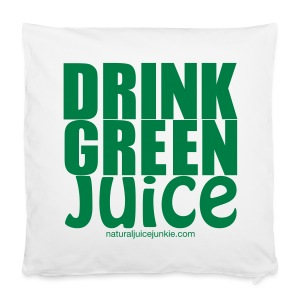 Drink Green Juice Recycled Shoulder Bag - Pillowcase 40 x 40 cm