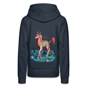 Kirin Water Albino FrauenT-Shirt Backdruck - Frauen Premium Hoodie