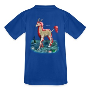 Kirin Water Albino FrauenT-Shirt Backdruck - Teenager T-Shirt