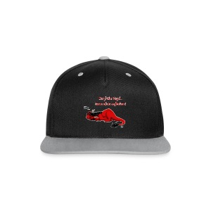 Drachi Dragon müde rot/red FrauenT-Shirt Backdruck - Kontrast Snapback Cap