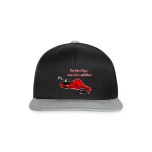Drachi Dragon müde rot/red FrauenT-Shirt Backdruck - Snapback Cap