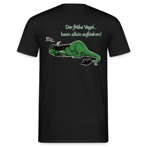 Drachi Dragon müde grün/green FrauenT-Shirt Backdruck - Männer T-Shirt