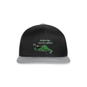 Drachi Dragon müde grün/green FrauenT-Shirt Backdruck - Snapback Cap
