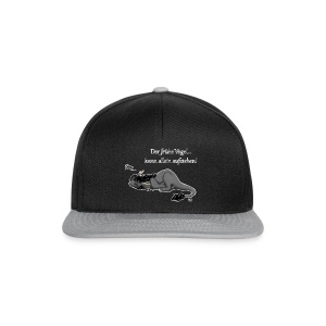 Drachi Dragon müde grau/grey FrauenT-Shirt Backdruck - Snapback Cap