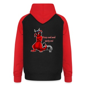 Keep cool- Drachi Dragon rot/red FrauenT-Shirt Backdruck - Unisex Baseball Hoodie