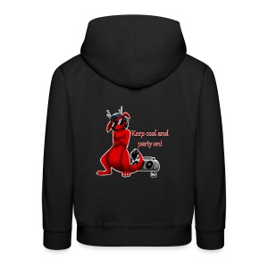 Keep cool- Drachi Dragon rot/red FrauenT-Shirt Backdruck - Kinder Premium Hoodie