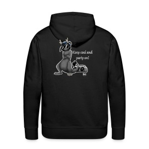 Keep cool- Drachi Dragon grau/grey FrauenT-Shirt Backdruck - Männer Premium Hoodie
