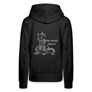 Keep cool- Drachi Dragon grau/grey FrauenT-Shirt Backdruck - Frauen Premium Hoodie