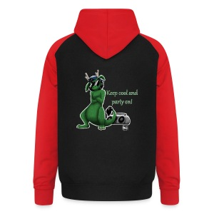 Keep cool- Drachi Dragon grün/green FrauenT-Shirt Backdruck - Unisex Baseball Hoodie