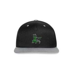 Keep cool- Drachi Dragon grün/green FrauenT-Shirt Backdruck - Kontrast Snapback Cap
