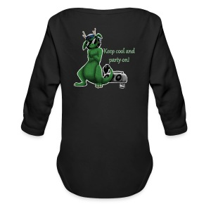 Keep cool- Drachi Dragon grün/green FrauenT-Shirt Backdruck - Baby Bio-Langarm-Body