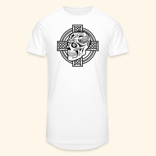 Skull & Celtic Cross, Kerlie - Männer Urban Longshirt