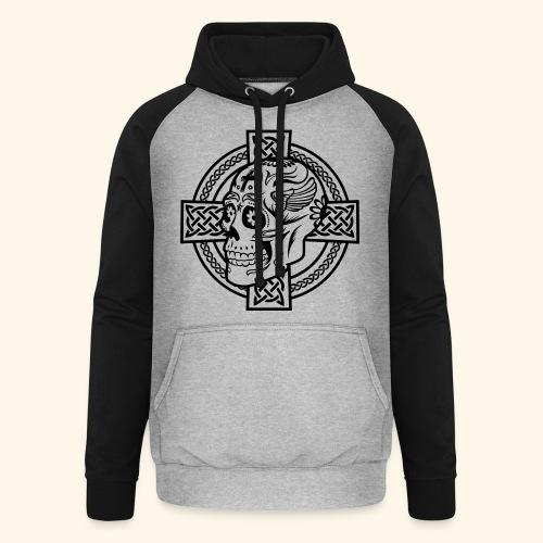 Skull & Celtic Cross, Kerlie - Unisex Baseball Hoodie