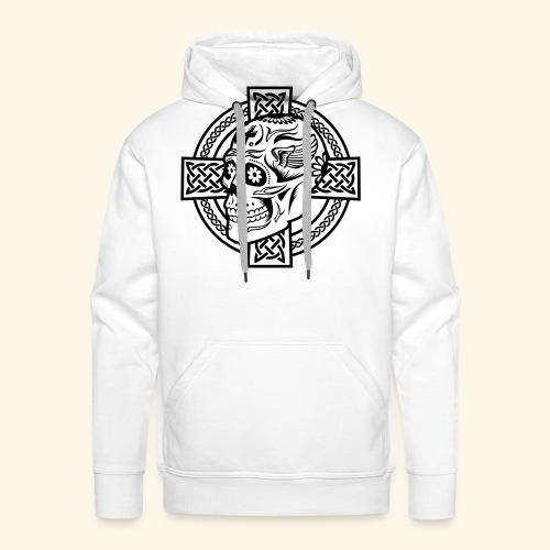 Skull & Celtic Cross, Kerlie - Männer Premium Hoodie