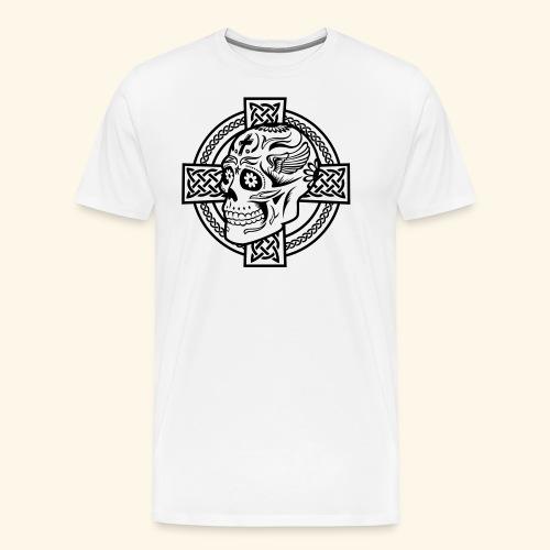Skull & Celtic Cross, Kerlie - Männer Premium T-Shirt