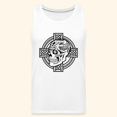 Skull & Celtic Cross, Kerlie - Männer Premium Tank Top