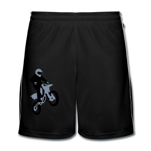 Motorbike_stunt - Pantalones cortos de fútbol hombre