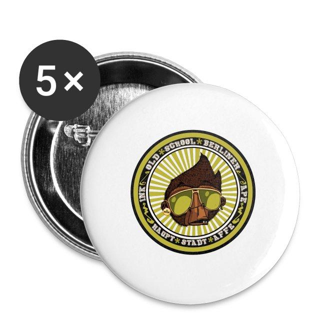 Hauptstadt Affe 5er PIN-SET (25mm)