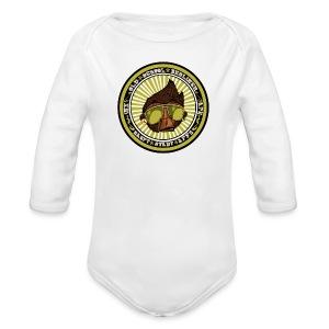 Hauptstadt Affe 5er PIN-SET (25mm) - Baby Bio-Langarm-Body