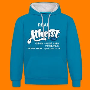 Real Atheist Tee Shirt - Contrast Colour Hoodie