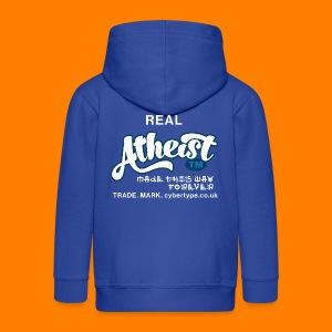 Real Atheist Tee Shirt - Kids' Premium Zip Hoodie