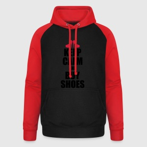 Keep calm and buy shoes Débardeurs - Sweat-shirt baseball unisexe
