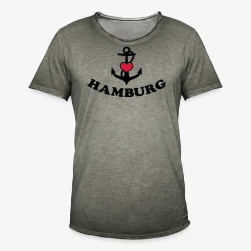Hamburg meine Liebe I LOVE  Herz auf Anker Heart FrauenT-Shirt - Männer Vintage T-Shirt