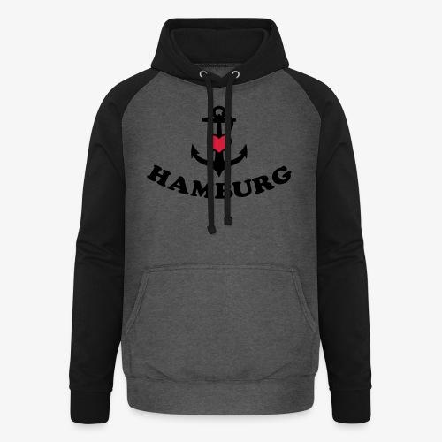 Hamburg meine Liebe I LOVE  Herz auf Anker Heart FrauenT-Shirt - Unisex Baseball Hoodie
