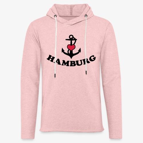 Hamburg meine Liebe I LOVE  Herz auf Anker Heart FrauenT-Shirt - Leichtes Kapuzensweatshirt Unisex