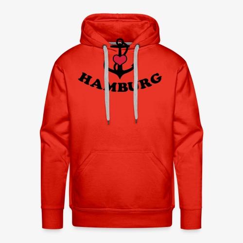 Hamburg meine Liebe I LOVE  Herz auf Anker Heart FrauenT-Shirt - Männer Premium Hoodie