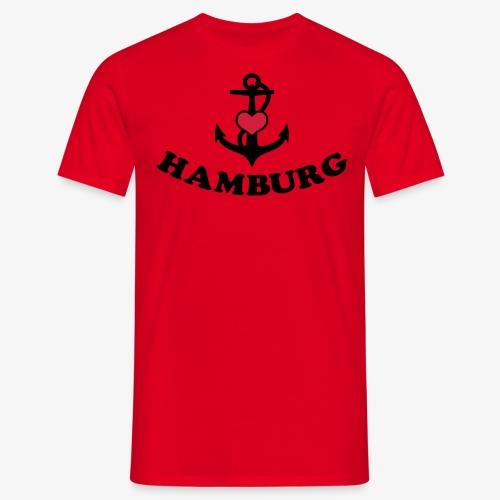 Hamburg meine Liebe I LOVE  Herz auf Anker Heart FrauenT-Shirt - Männer T-Shirt