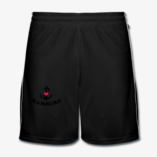 Hamburg meine Liebe I LOVE  Herz auf Anker Heart FrauenT-Shirt - Männer Fußball-Shorts