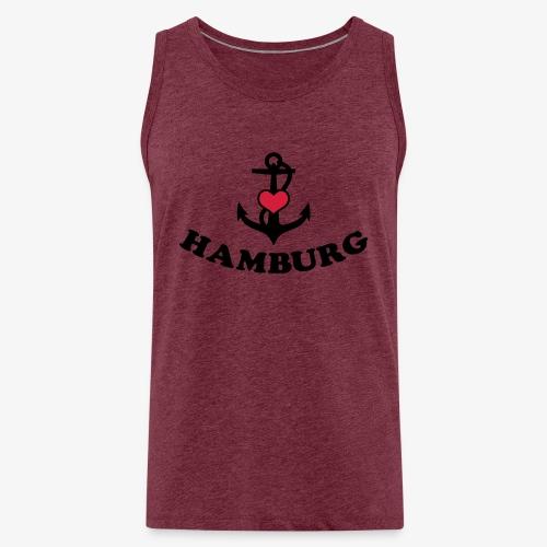 Hamburg meine Liebe I LOVE  Herz auf Anker Heart FrauenT-Shirt - Männer Premium Tank Top