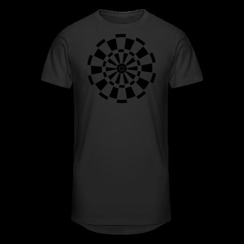 Dartscheibe Shirt - Männer Urban Longshirt