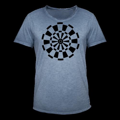 Dartscheibe Shirt - Männer Vintage T-Shirt