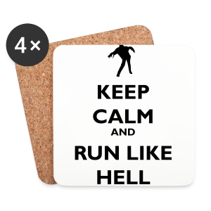 Zombie Keep calm - Coasters (set of 4)