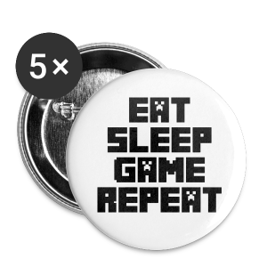 Minecraft - Eat, Sleep, Game, Repeat - Buttons small 25 mm