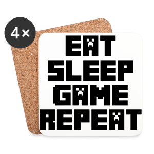 Minecraft - Eat, Sleep, Game, Repeat - Coasters (set of 4)