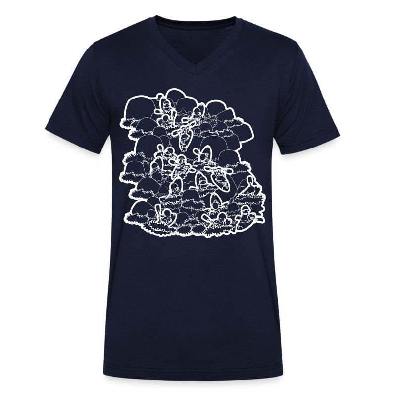 93. River Daze (white) - Men's Organic V-Neck T-Shirt by Stanley & Stella