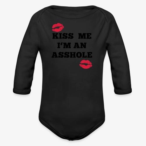 Kiss Me I'm an Asshole - Pullover - Baby Bio-Langarm-Body