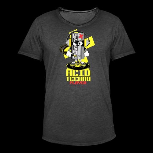 ACID ACID TECHNO PLAYER - Men's Vintage T-Shirt