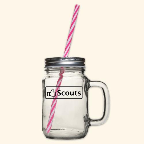 Like Scouts - Mädls - Henkelglas mit Schraubdeckel