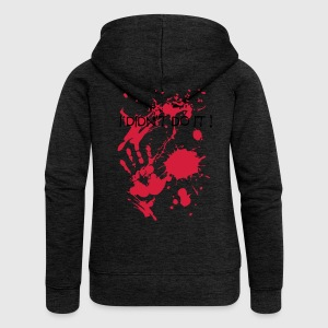 0ididntdoit111000111 T-Shirts - Women's Premium Hooded Jacket