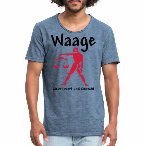 Sternzeichen Waage - Männer Vintage T-Shirt