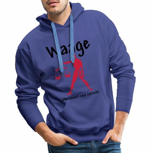 Sternzeichen Waage - Männer Premium Hoodie