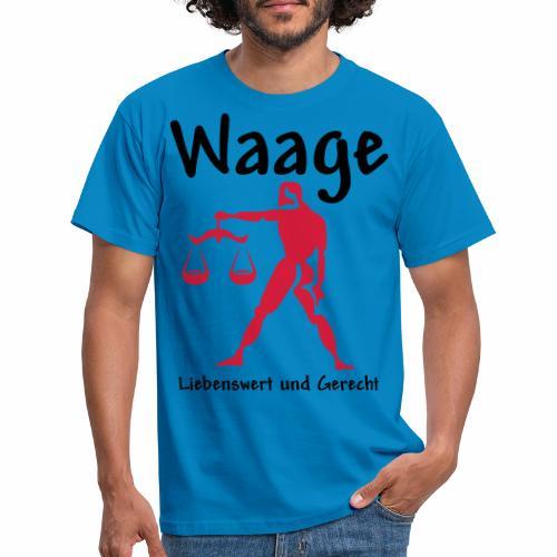 Sternzeichen Waage - Männer T-Shirt